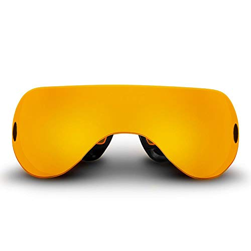 Great Smart Light Therapy Glasses FJFJFJ Smart Eye Massager Wireless 6d Mobile Green Benefit Light Wave Goggle Restore Vision Training Recovery Massage Eye Glasses, Yellow 2019