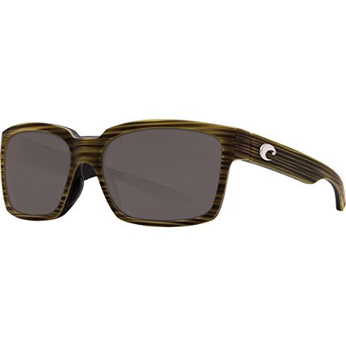 Costa Del Mar Playa Polarized Sunglasses Matte Verde Teak/Black Gray