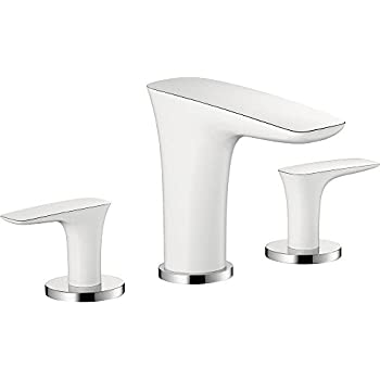 Hansgrohe 15073401 Puravida Widespread Faucet, White/Chrome