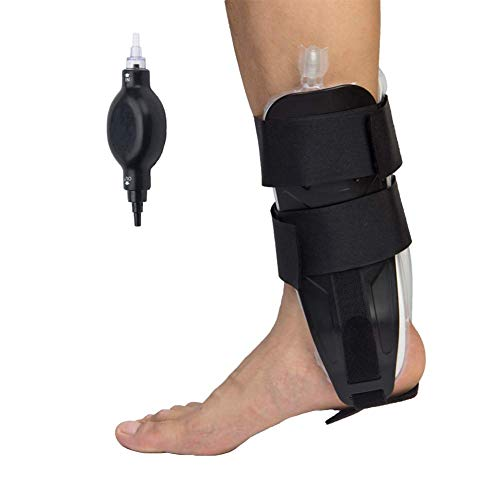 Reduce Swelling Ankles - Air and Foam Ankle Stirrup Brace, Air Pump Ankle Support Splint Reduce Swelling and Inflammation for Strain Sprain Arthritis-Black