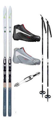 Fischer Ski Poles - Fischer Spider 62 Cross Country Ski Package (Skis, Boots, Bindings, Poles)
