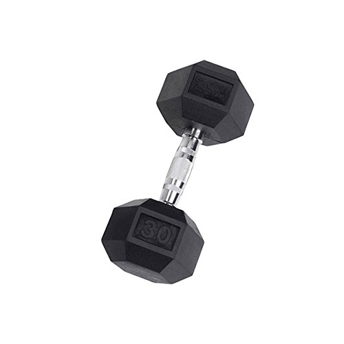 Body-Solid Rubber Coated Hex Dumbbell 30 lb.