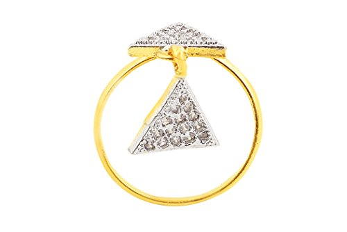 Fasherati CZ Double Triangle Ring for Girls