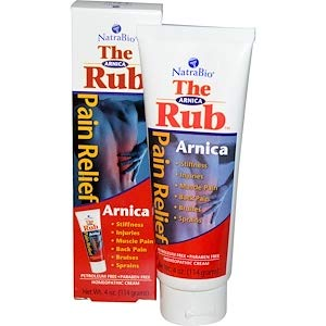 NATRA BIO CREAM ARNICA RUB, 4 OZ - Natra Bio Arnica Rub Cream