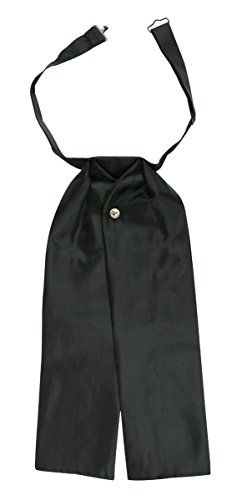 Historical Emporium Men's Solid Puff Tie Satin Black]()