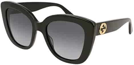 Gucci GG0327S 001 Black GG0327S Cats Eyes Sunglasses Lens Category 3 Size 52mm