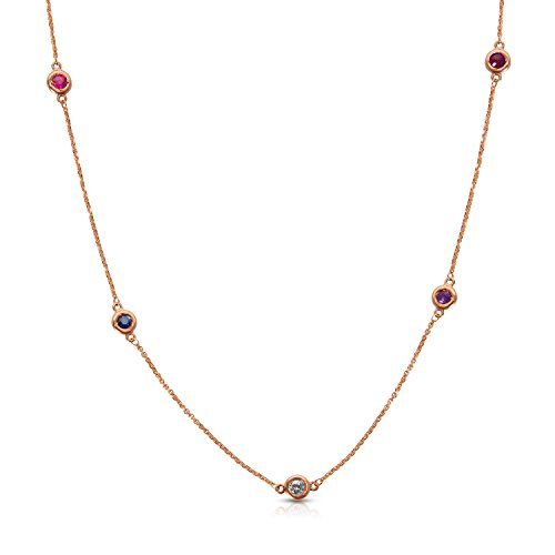 BRAND NEW Diamond by the Yard Necklace in 14K Pink Gold (0.68 CTW) by Loved Luxuries