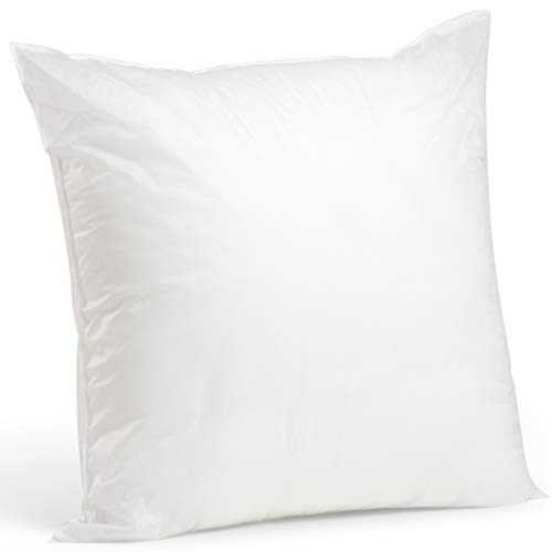 Solid Decorator Fabric - Foamily Premium Hypoallergenic Stuffer Pillow Insert Sham Square Form Polyester, 28