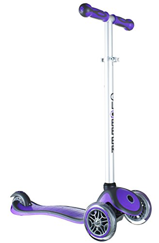 Globber 3 Wheel Adjustable Height Scooter (Dark Purple/Gray)