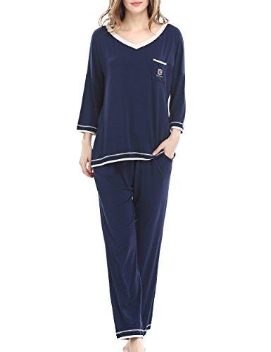 Elastic Waist Short Sleeve Pajama Set - 3