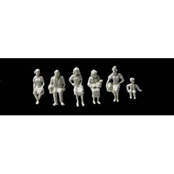 Inc Walthers Toy 72 Traveling Figures Unpainted Pkg