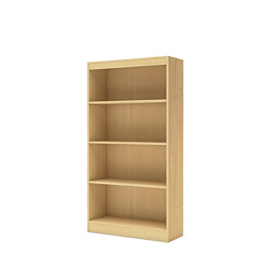 South Shore 4-Shelf Storage Bookcase, Natural (Wood Natural Bookcase Cabinet)
