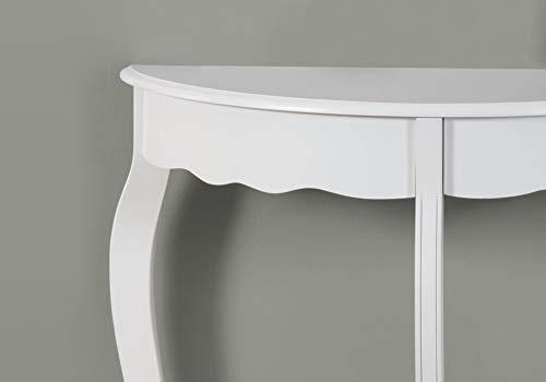 Monarch Hall Console Accent Table, 31 , Antique White