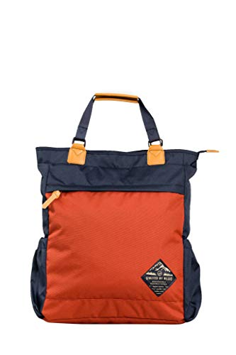 United By Blue - Summit Convertible Tote Pack Navy/Rust