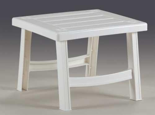 Mesa de apoyo para jardines y piscinas (resina blanco plegable: Amazon.es: Hogar