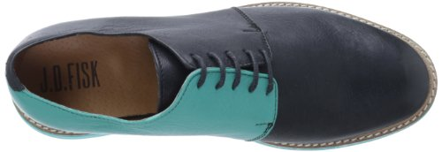 Jd Fisk Mens Valdez Oxford In Pelle Nera
