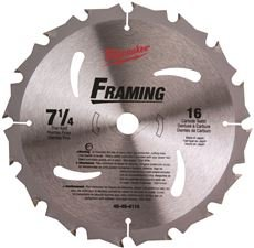 MILWAUKEE ELECTRIC 48-40-4116 CIRCULAR SAW BLADE 7-1/4 IN. CARBIDE 16T (1 PER CASE) ()