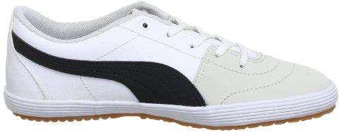 Puma Puma Serve Pro Jr - Caña baja de material sintético infantil blanco - Weiß (white-black-vaporous gray 01)