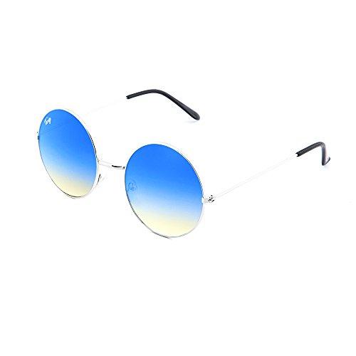sol hombre BRETON TWIG degradadas Degradado de Gafas Plata espejo mujer Azul 7waxA