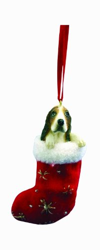Basset Hound Christmas Stocking Ornament with