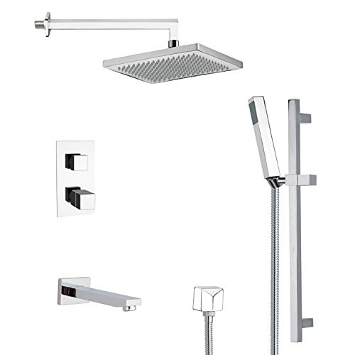 12.5 L x 10 W Remer TSR9402 Galiano Pressure Balance Tub and Shower Faucet