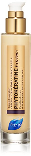 PHYTOKÉRATINE EXTRÊME Botanical Exceptional Cream | Ultra-Weak, Damaged, Brittle, Dry Hair | Thermal Protection, Provides Shine, Anti-Breakage, Anti-Frizz | Baobab Oil | Sulfate Free, Paraben Free