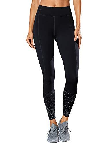 25'' Bolsillo Yoga Lycra Crz Leggings Negro Pantalon Alta R421 Con Cintura Deportivos Compression Running 17'' Mujer Fitness B6RSC