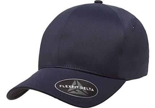 Flexfit Delta Premium Fitted Ballcap | Seamless, Lightweight, Water Resistant Cap w/Hat Liner (Large/X-Large) Navy (180 Baseball)