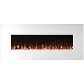 Amazon.com: Electric Fireplace Wall Mounted, Color Changing LED ...
