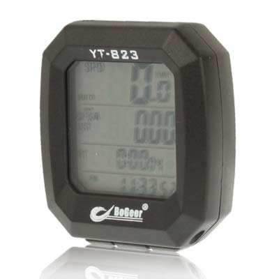 Timemall Bicycle Push-in Bottom Bracket LCD Electronic Bicycle Speedometer : Sports & Outdoors