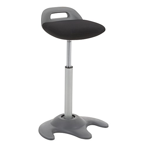 (Learniture LNT-NES3021BK-SO Sit-to-Stand Active Motion Perch Stool, Black)