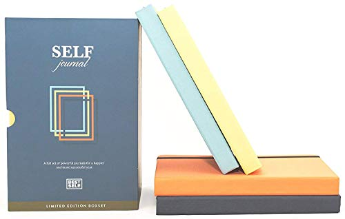 SELF Journal by BestSelf - Undated Daily, Weekly and Monthly Life Planner Organizer with Proven Productivity and Positivity System for Maximum Achievement and Goal Success - 4 Pack Multi-Color