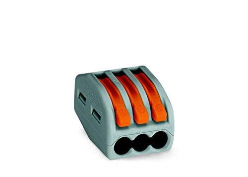 Wago 3-Leiter-Verbindungsklemme 2,5qmm 222-413, 50 Stü ck