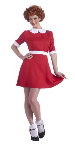 Forum Novelties Women's Annie Costume, Red, Standard ()