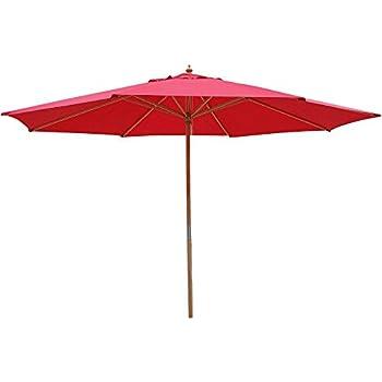 This Item 13 Foot Market Patio Umbrella Outdoor Furniture Red