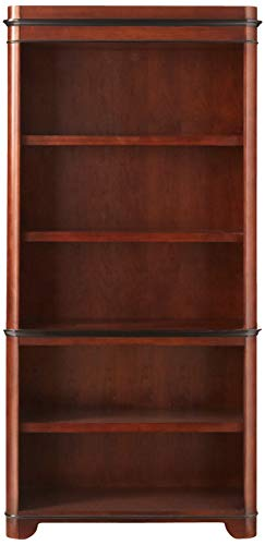 Martin Furniture Kensington 5 Shelf Bookcase, Fully Assembled, Brown