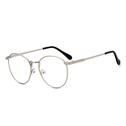 D.King Retro Round Metal Frames Prescription Clear Lens Eyeglasses Frames - King Sunglasses 5