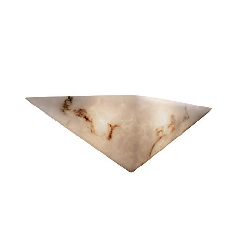 Justice Design Group FAL-5140 Alabaster Stone / Glass Wall Washer Sconce from th, Faux Alabaster