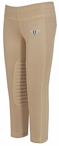 TuffRider Children's Ventilated Schooling Riding Tights|Color-Safari|Size-Medium