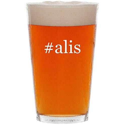 #alis - 16oz Hashtag Pint Beer Glass