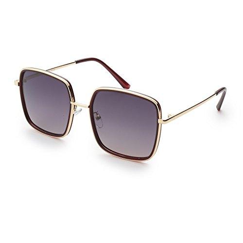 Sunglasses Steampunk Lunettes Polarisé Guide Ronde Gradual Gray TL Femmes Grand cuivre Lunettes dqXTzZ