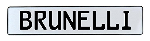 Vintage Parts 591993 Wall Art (Brunelli White Stamped Aluminum Street Sign Mancave)