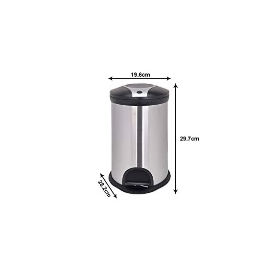 Bathla Contempo Stainless Steel Pedal Step Dustbin - Small (5 L) 3