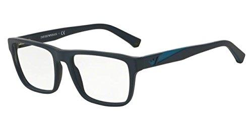 Emporio Armani Glasses Frames - Emporio Armani EA3080 Eyeglass Frames 5504-53 - Matte Blue