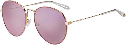Givenchy Women's Round Aviator Sunglasses, Gold/Pink, One ()