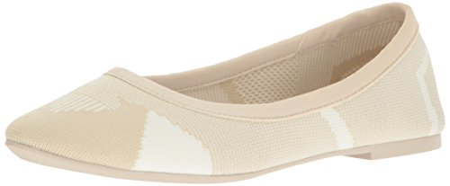 Skechers Women's Cleo Wham Ballet Flat - Natural/White Kn...