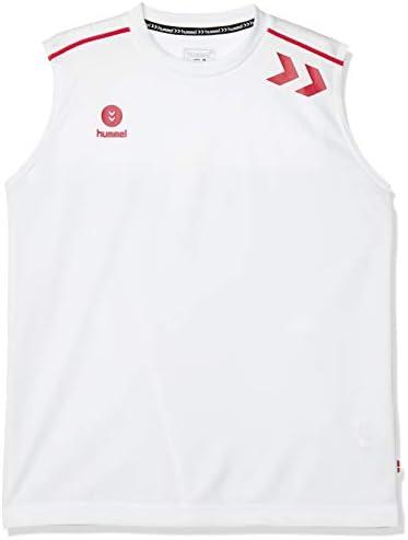 ノースリーブシャツ ワンポイント メンズ ホワイト×S.ピンク (1024) 日本 O (日本サイズ2L相当)