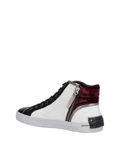 bicolore pour Blanc haute Chaussure femme London Noir 39 Sneakers Sport taille Crime avec velours HqnfxgE