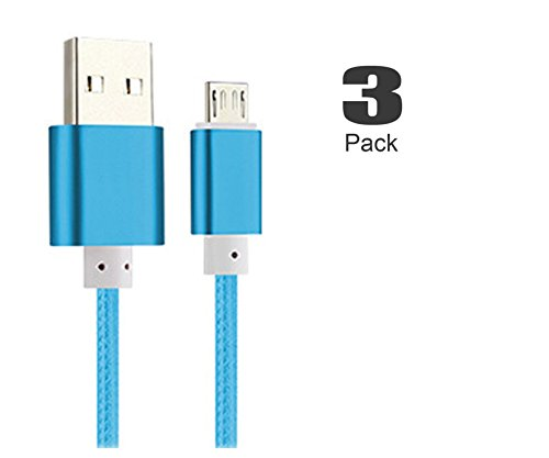 [3Pack]Micro-USB Cable,iBarbe Nylon Braided 5FT for Amazon Kindle Fire Tablets,HD,Fire HD 8 10,HDX 8.9
