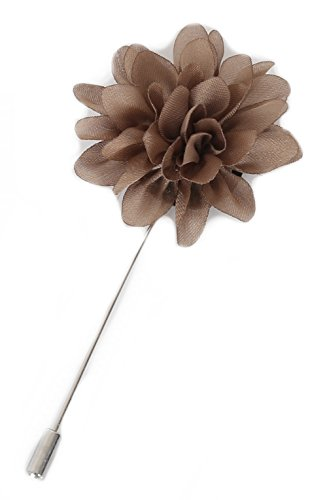 Flairs New York Gentleman's Essentials Premium Handmade Flower Lapel Pin Boutonniere (Persian Bronze [Daisy])